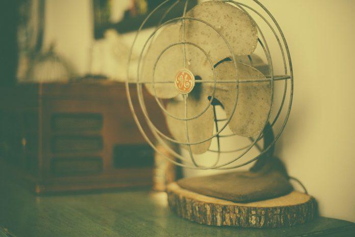 Frische Luft durch Ventilator
